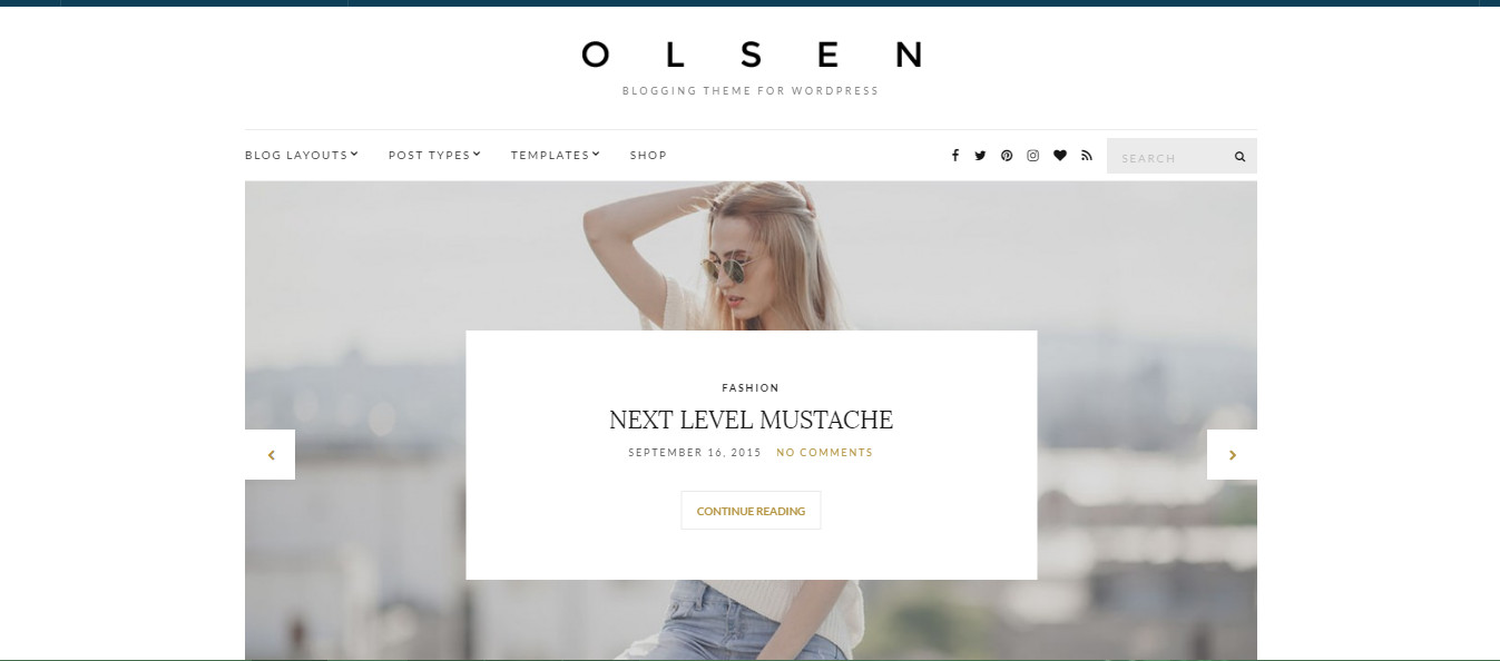 Olsen-minimalist blogging theme for wordpress