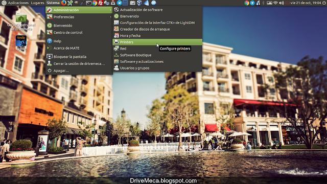 DriveMeca instalando y configurando impresora Wifi en Linux Ubuntu