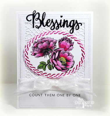 Our Daily Bead Designs: Many Blessings Stamp/Die Duos , Fragrance, Flower Lattice, Pierced Squares, Pierced Rectangles, Ovals, Layered Lacey Ovals