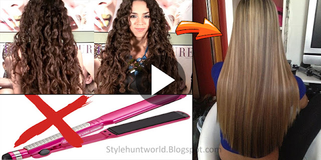 How To Straight Hair With No Heat!