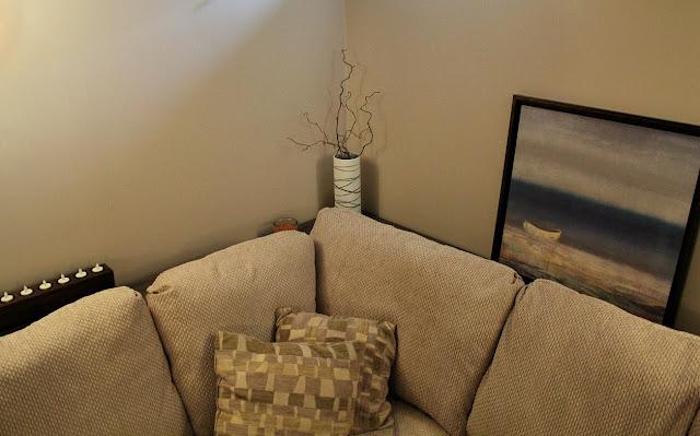 DIY sofa table - cerusing
