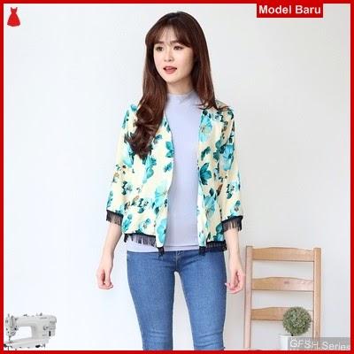 GFSH2129212 Setelan Kimono Floren Terbaru Bunga Keren BMG
