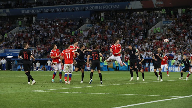 ملخص مباراة كرواتيا وروسيا السبت 7/7/2018 في كأس العالم روسيا 2018