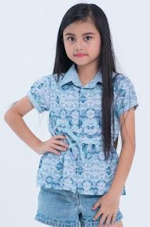 Baju batik anak perempuan imut