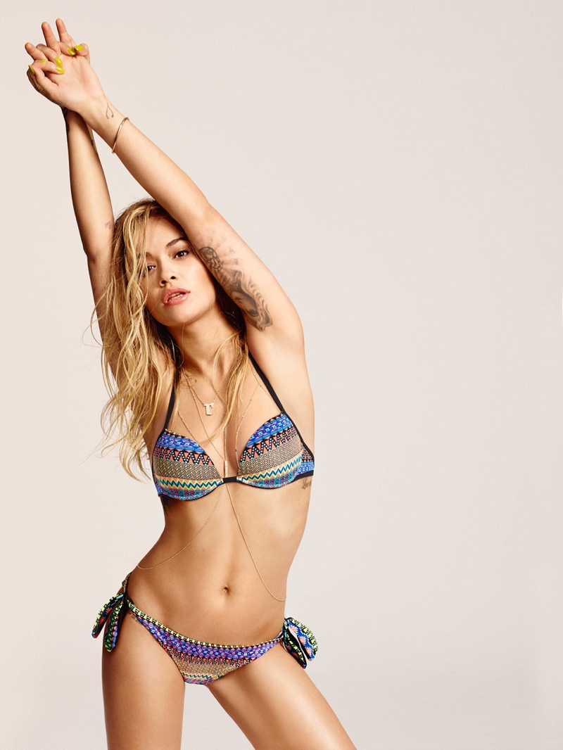 Rita Ora strips to bikinis for Tezenis Summer 2016 Campaign