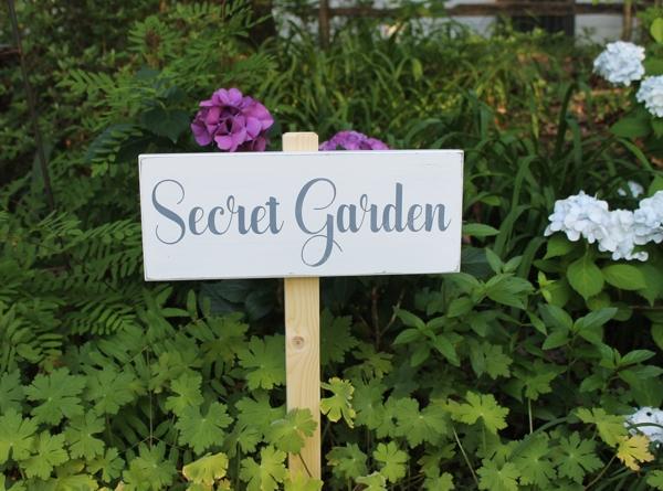 Secret Garden Yard Sign