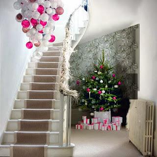 Decorar ingreso casa navidad