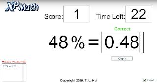 Выражаем проценты десятичной дробью