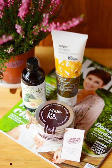 Make Me Bio Body Butter, olej z awokado Avebio, odżywcza maska do włosów tołpa botanic