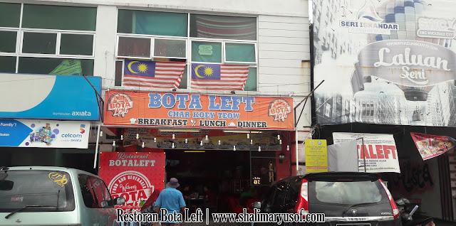 Makan Tengahari Di Restoran Bota Left Char Kuew Teow Seri Iskandar Perak