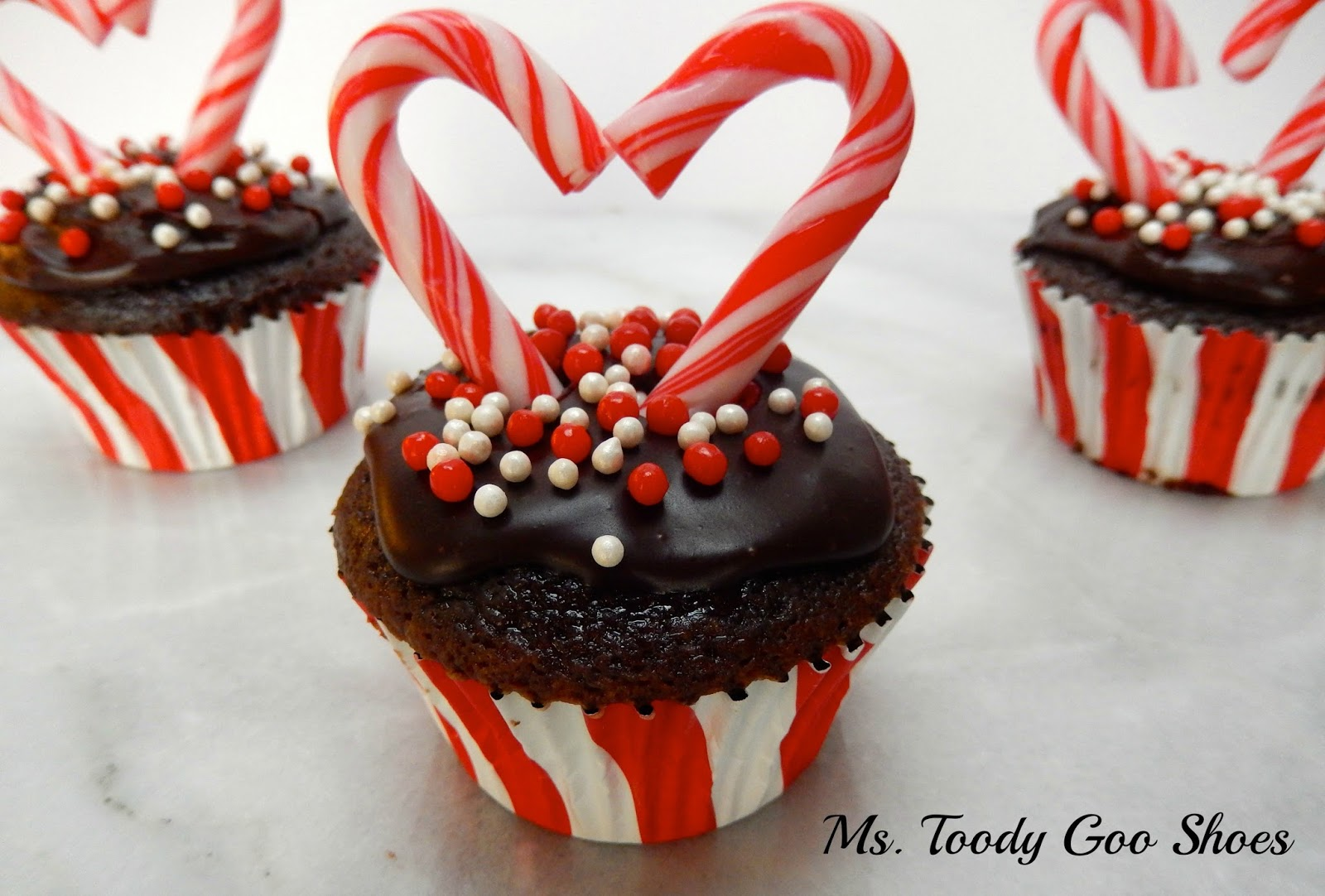 Chocolate Mint Cupcakes...an easy Valentine's Day treat  ---by Ms. Toody Goo Shoes