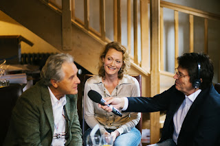 Clive Limpkin and Emma Clark Lam with Mike Read on BBC Radio Berkshire