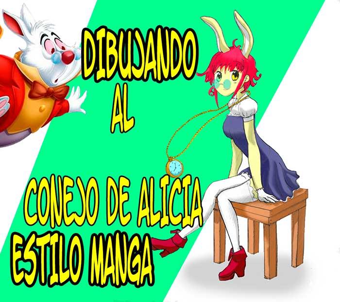 Dibujando al Conejo Blanco de Alicia en el Pais de las Maravillas en Estilo Manga