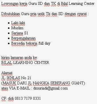 Guru SD dan TK di Bilal Learning Center