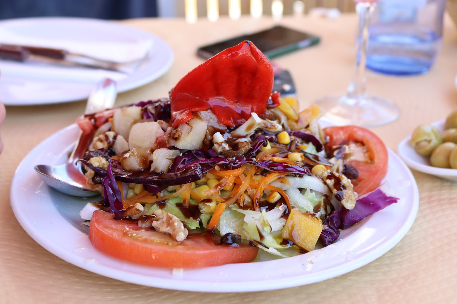 Plate of salad, spain