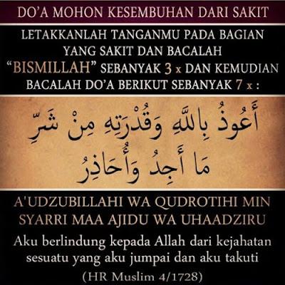 Doa Nabi Muhammad Utk Sembuhkan Bagian Tubuh yg Sakit,Sangat Mujarab....!!!