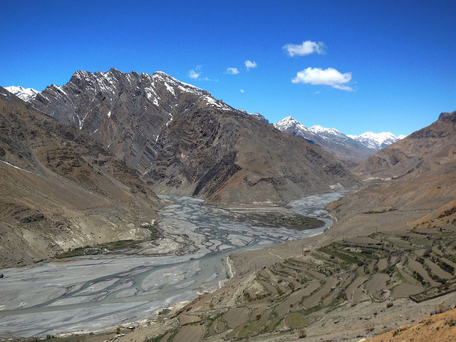 Delta of Spiti and Pin river