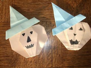 citrouilles origami