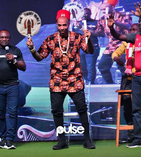 Arsenal legend Thiery Henry installed as 'Igwe' of goals in Lagos | New Source : PulseNg