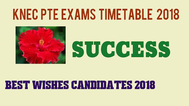 PTE exams timetable 2018