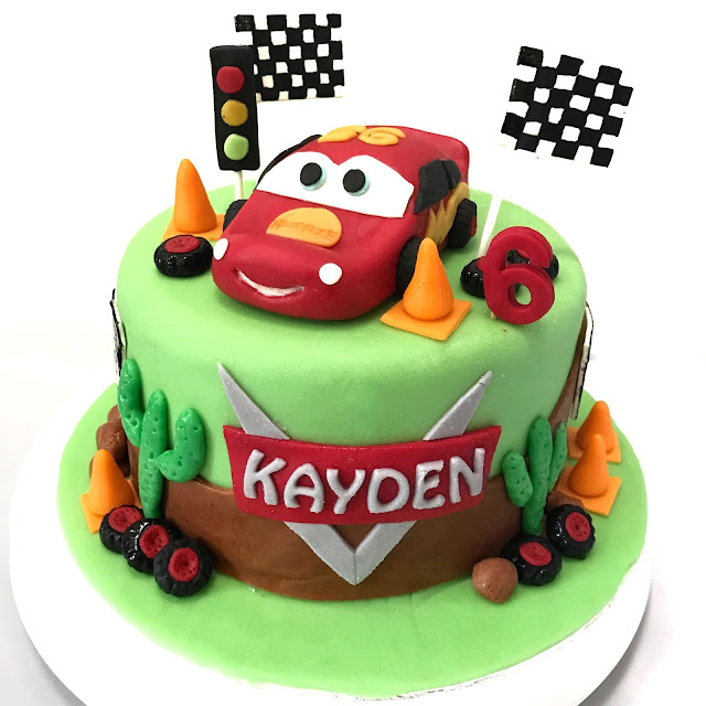 Sherbakes Mc Queen Cars Themed Cake
