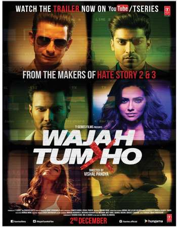Poster Of Wajah Tum Ho 2016 Hindi 350MB pDVD 480p Watch Online Free Download downloadhub.net