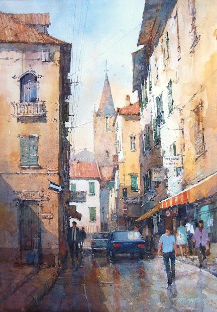 Ian Ramsay Watercolor Painting