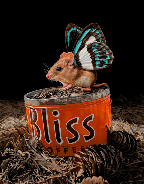 Fantasy Art Animal Portraits Mouse with Wings Lisa Ericson