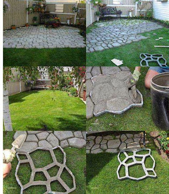 Wonderful idea to make a great path for your Garden