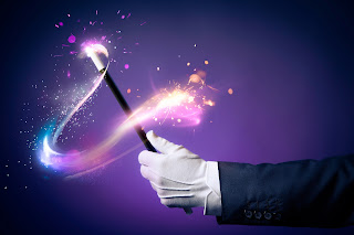 purple magic sparkle wand kids magician VA