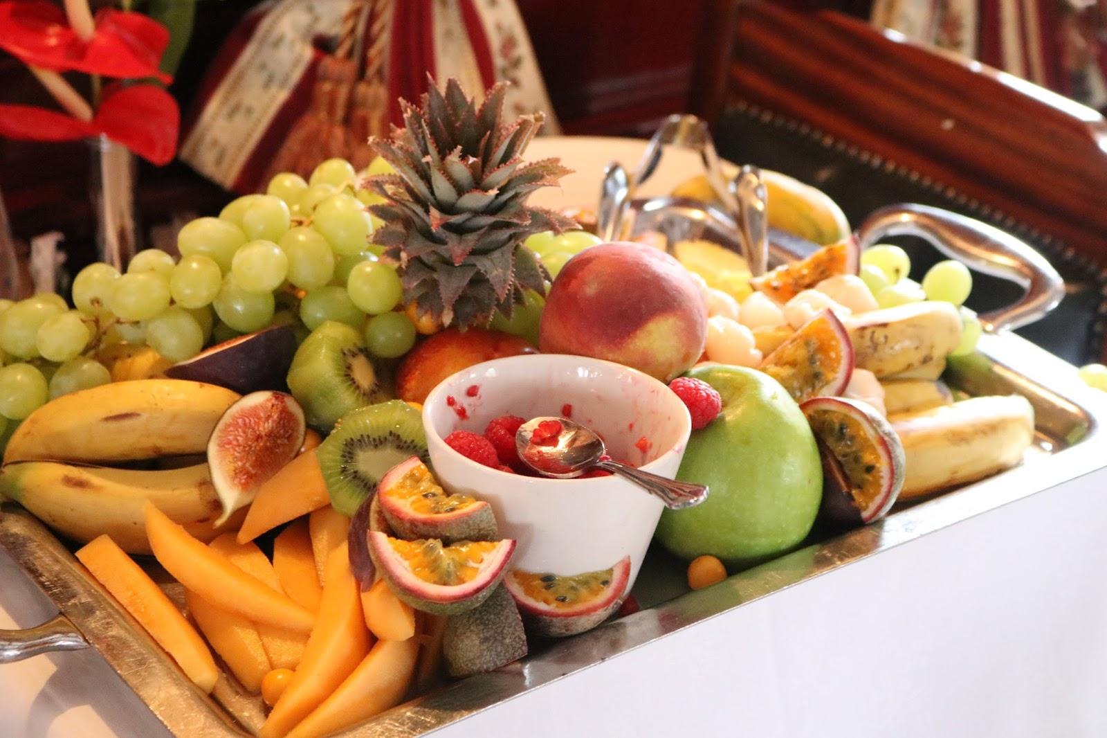 Fruit Platter, breakfast aboard Rovos Rail