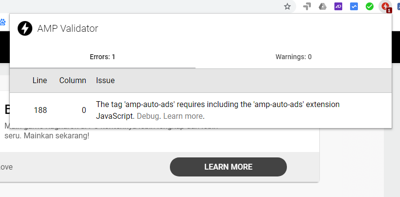 Cara Mengatasi Erorr Requires Including The Amp-Auto-Ads