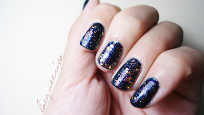 Lacqueerisa - Glitter over Blue polish
