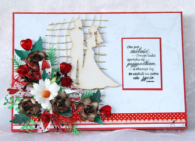 kartka ślubna, kartka w pudełku, ręcznierobiona kartka, prezent na ślub, jak wręczyć pieniądze na ślub, kartka na zamówienie