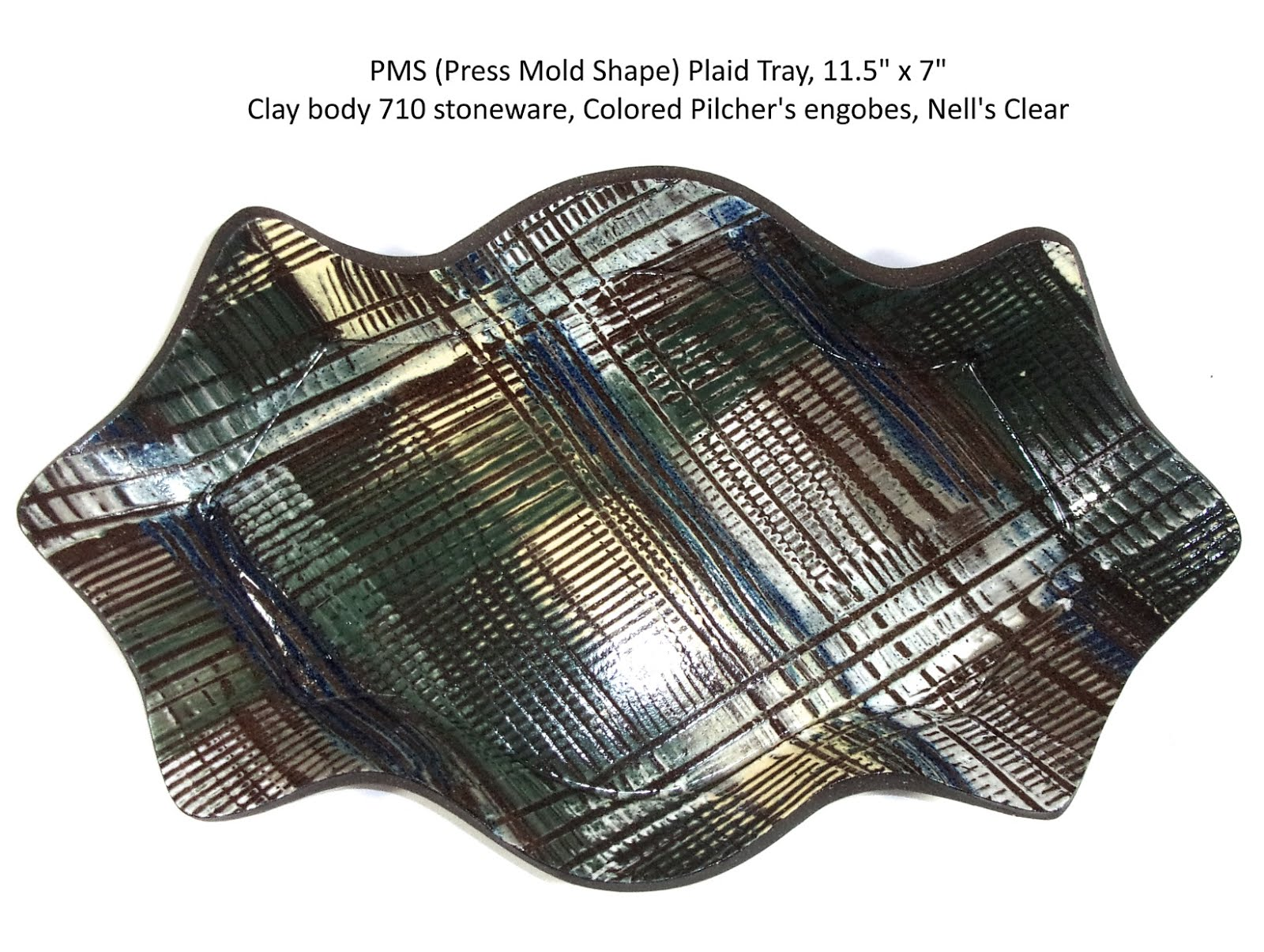 The Plaid Ceramic Tray