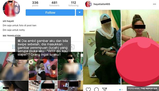 'Betul ke tu gambar (lucah) kau Aina?' - Gadis terkejut gambarnya di Instagram dicuri dan dijual dengan gambar lucah RM30
