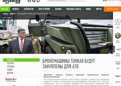 Yerli araç ilk kez Ukrayna da tanıtıldı.