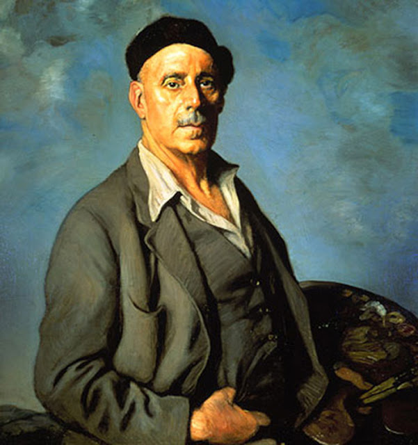 Ignacio Zuloaga y Zabaleta,Self Portrait, Portraits of Painters, Fine arts, Ignacio Zuloaga
