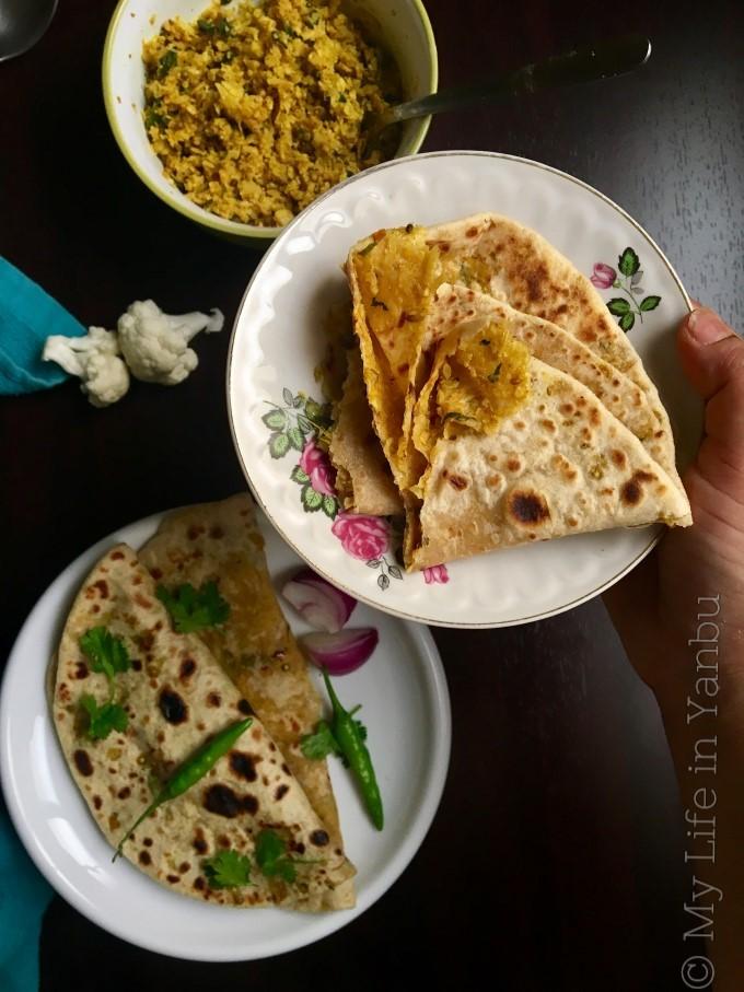 Cauliflower Stuffed Flat-bread   Gobi Ka Paratha
