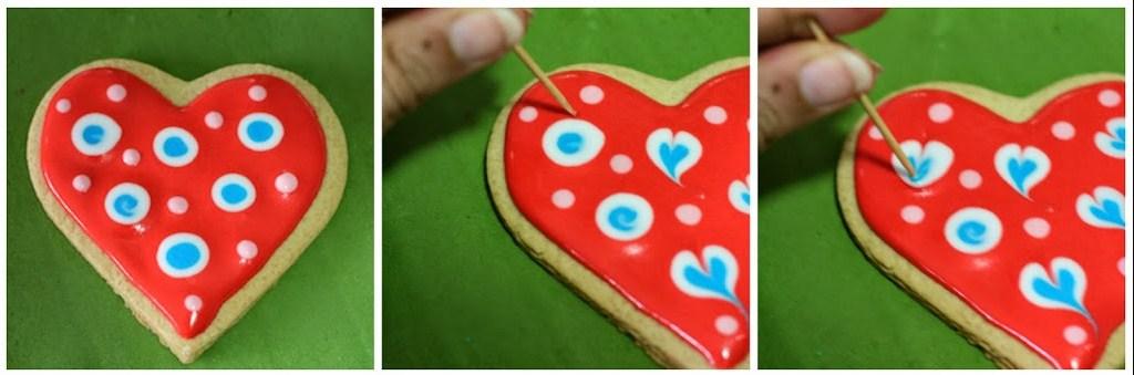 Decorated Valentine Cookies