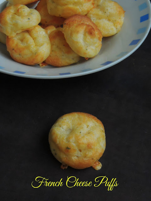 Gougères au fromage, Cheese puffs