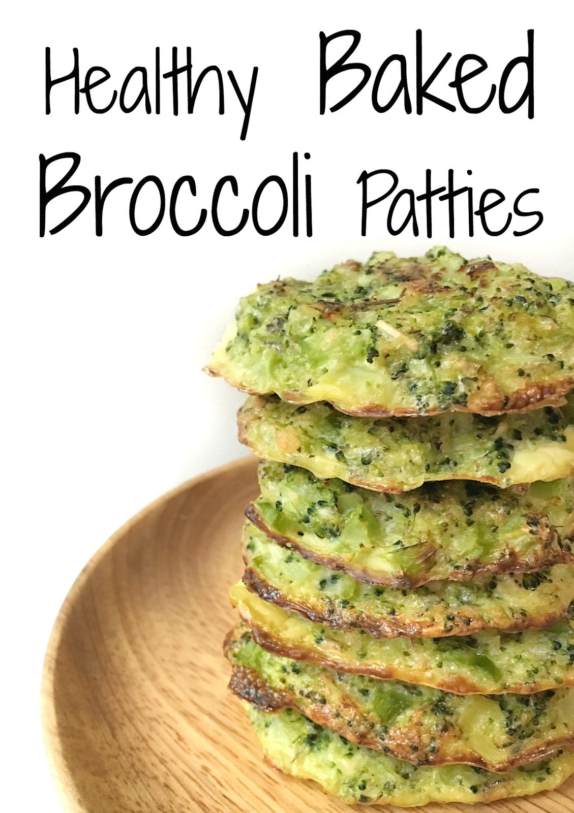 Healthy Baked Broccoli Patties