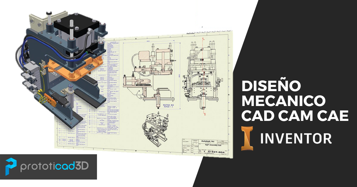 Diseño mecánico CAD CAM CAE con Inventor