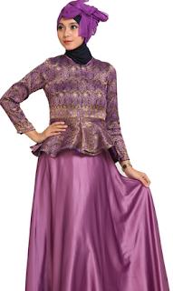 Long Dress Batik Kombinasi Kain Satin