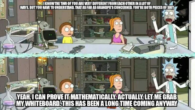 Funny quote about Morty and Summer