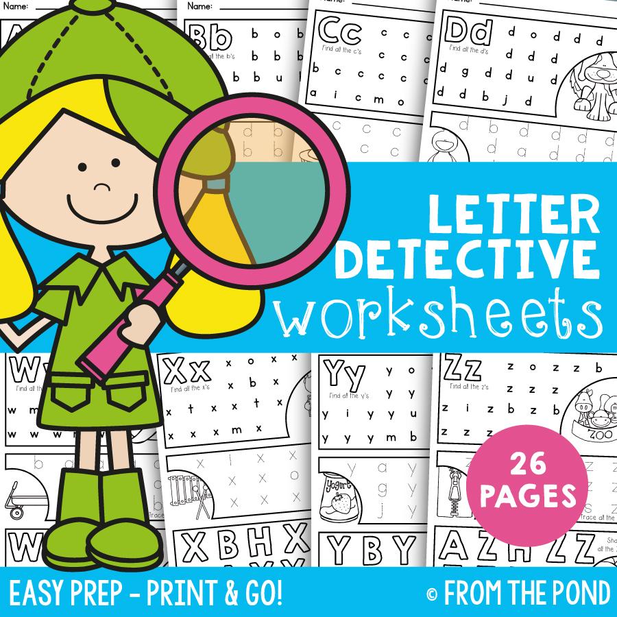 letter detective printable file from the pond. Black Bedroom Furniture Sets. Home Design Ideas