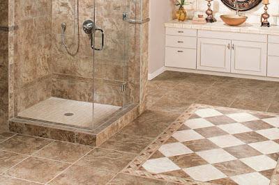 marble tile bathroom floor brown classic