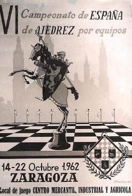 Postal conmemorativa del VI Campeonato de España por equipos