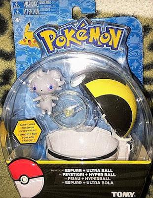Espurr ニャスパー figure Tomy US Pokemon Clip N Carry Pokeball Espurr & Ultra Ball set
