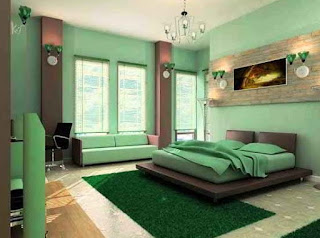 Warna Cat Hijau Interior Rumah